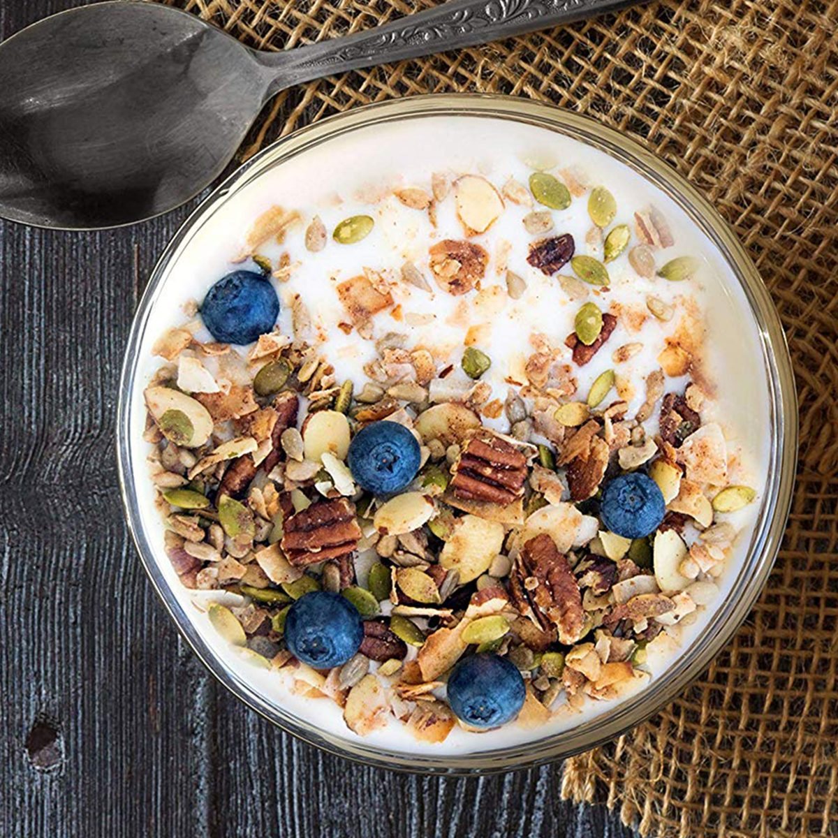 Low Karb - Keto Blueberry Nut Granola Healthy Breakfast Cereal - Low Carb Snacks & Food - 3g Net Carbs - Almonds, Pecans, Coconut and more