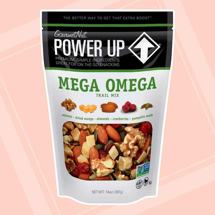 Power Up Trail Mix, Mega Omega Trail Mix, Keto-Friendly, Paleo-Friendly, Non-GMO, Vegan, Gluten Free, No Artificial Ingredients, Gourmet Nut, 14 oz Bag