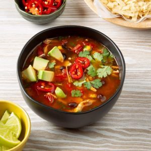 Pressure-Cooker Chicken Tortilla Soup