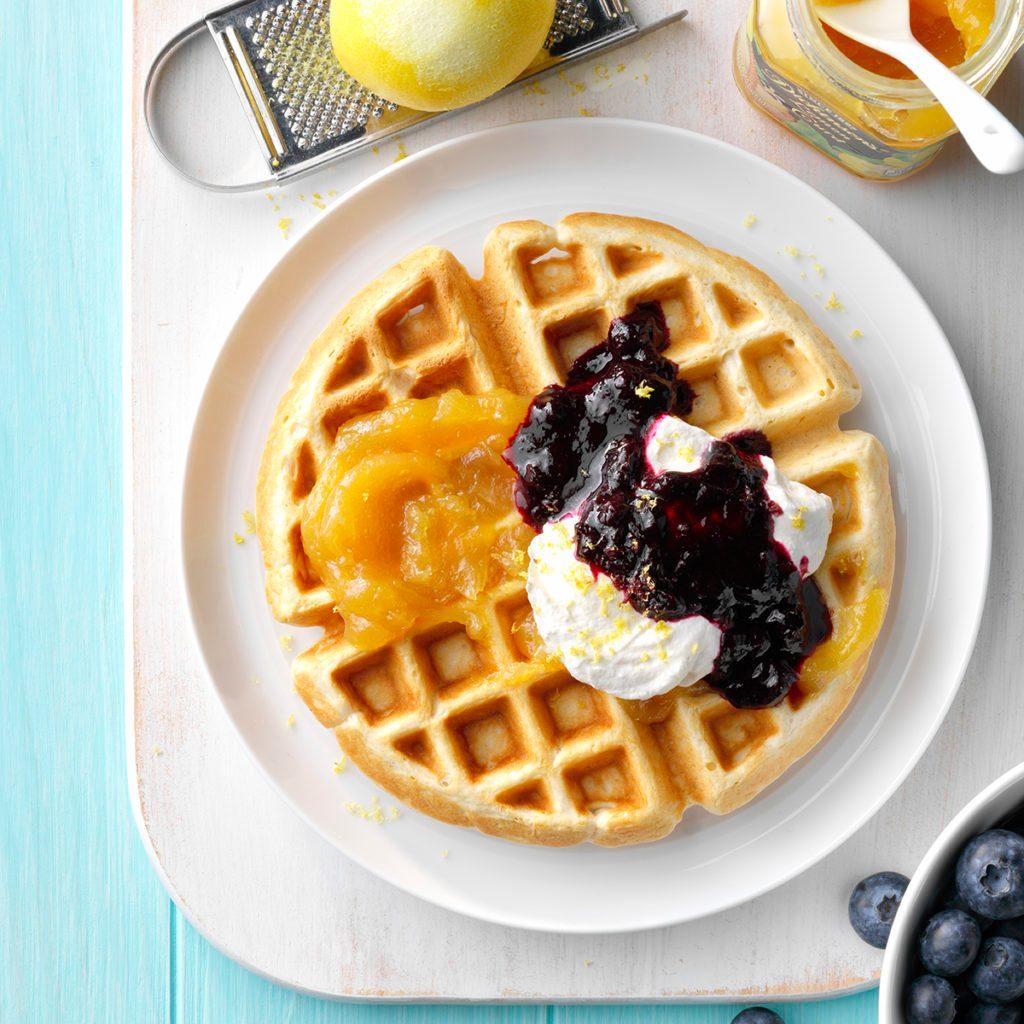 Lemon & Blueberry Waffles