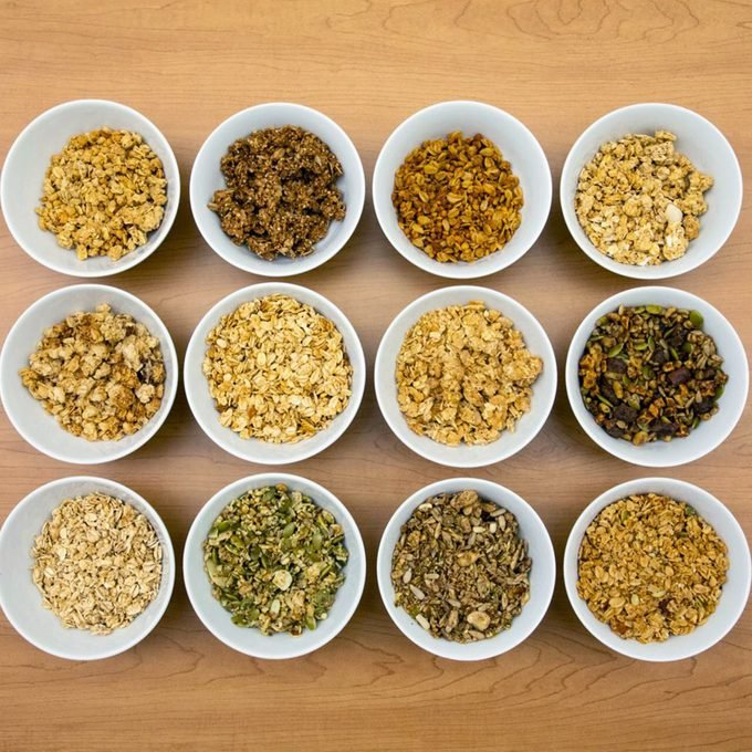 12 cups of granola for Best Loved Brands