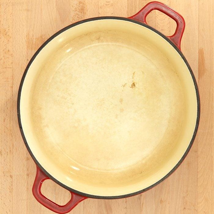 A close up shot of a casserole pot