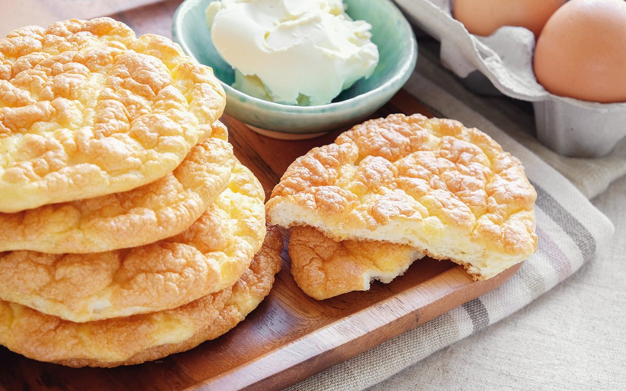 Cloud bread, Oopsie bread , Keto, ketogenic diet, paleo, low carb high fat, egg fast