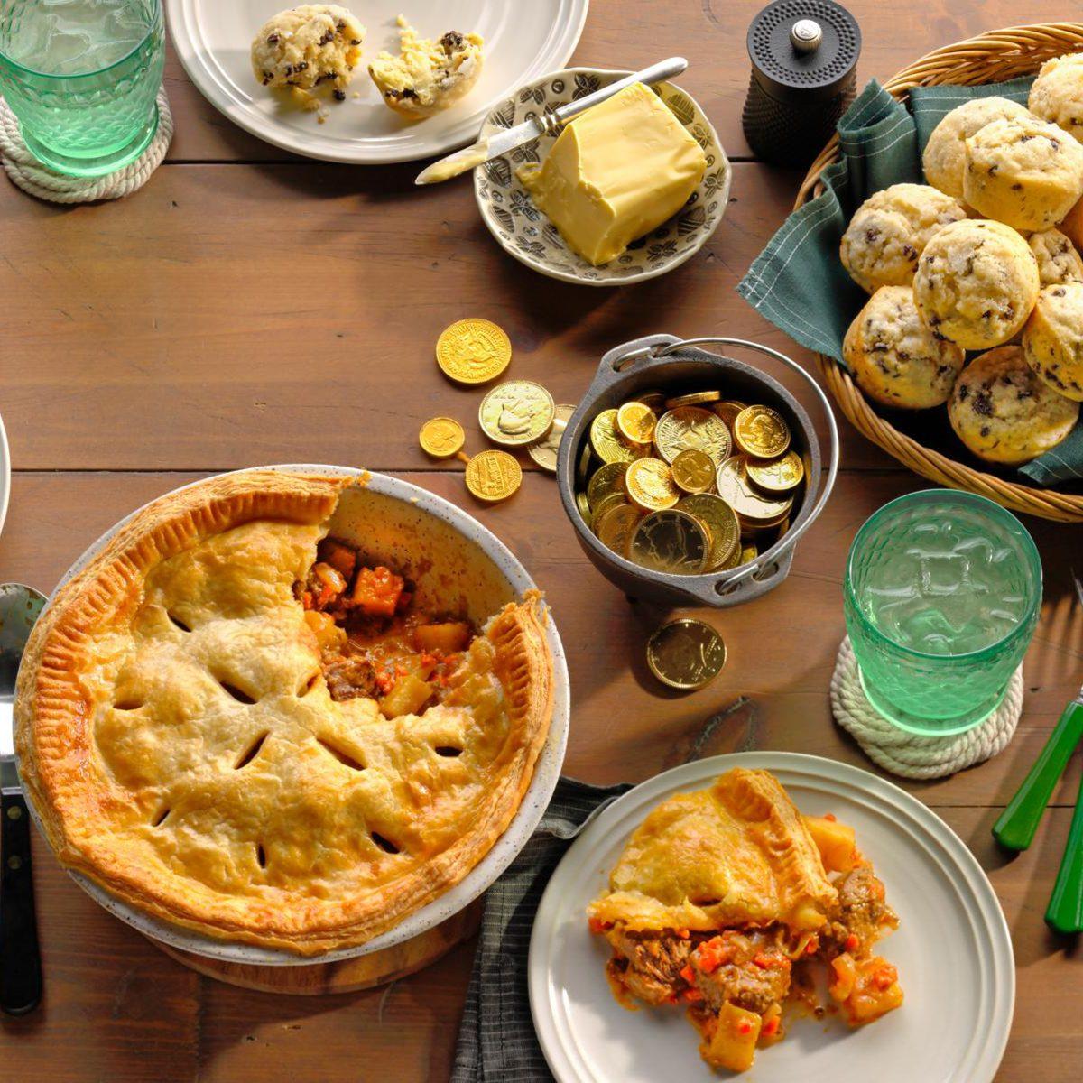assortment of irish food on table