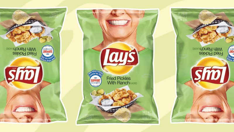 layf fried pickle with ranch chips social feature
