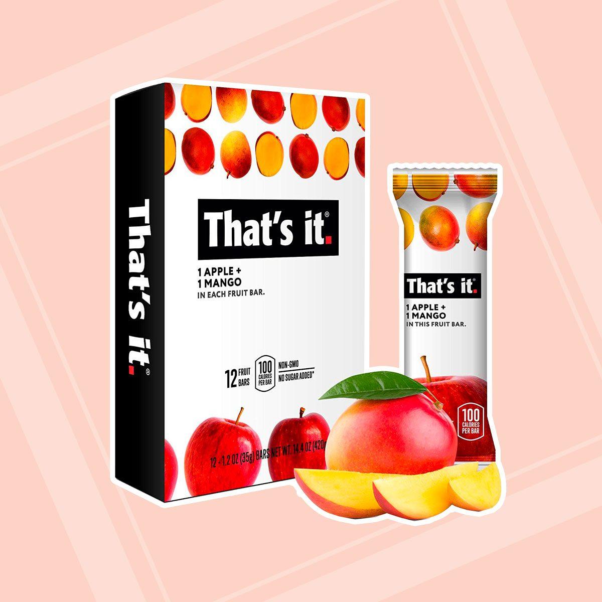 That's it. Apple + Mango 100% Natural Real Fruit Bar
