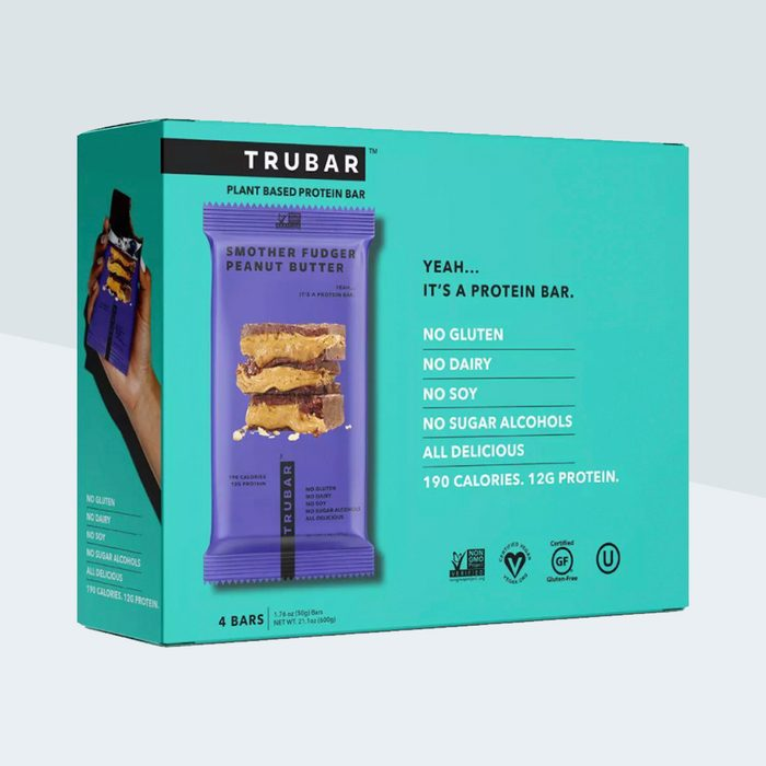 TRUWOMEN Plant Fueled Protein Bar - Smother Fudger Peanut Butter - 4ct/10.56oz