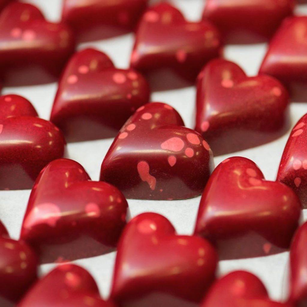 kholer dark chocolate hearts