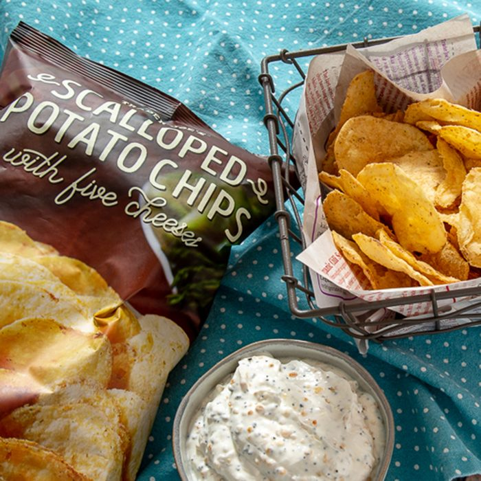 Scalloped Potato Chips with Five Cheeses