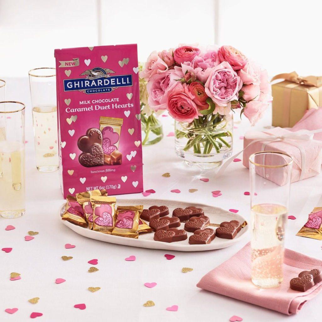 Ghirardelli Valentines Chocolate Duet Hearts Assortment