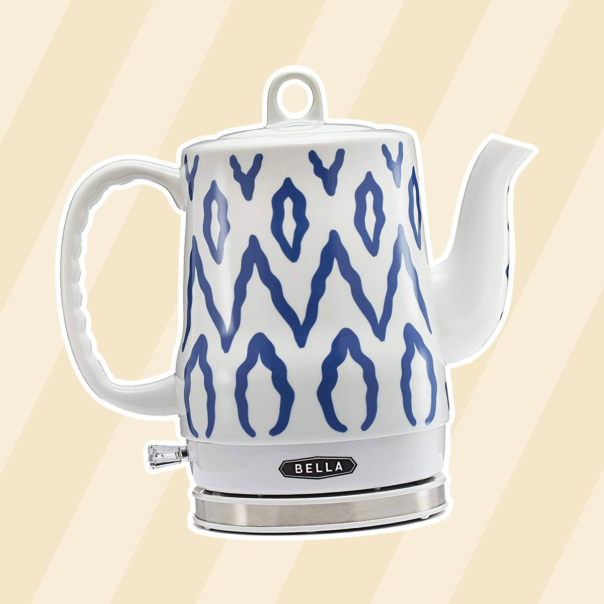 BELLA 13724 Electric Tea Kettle, 1.2 LITER, Blue Aztec