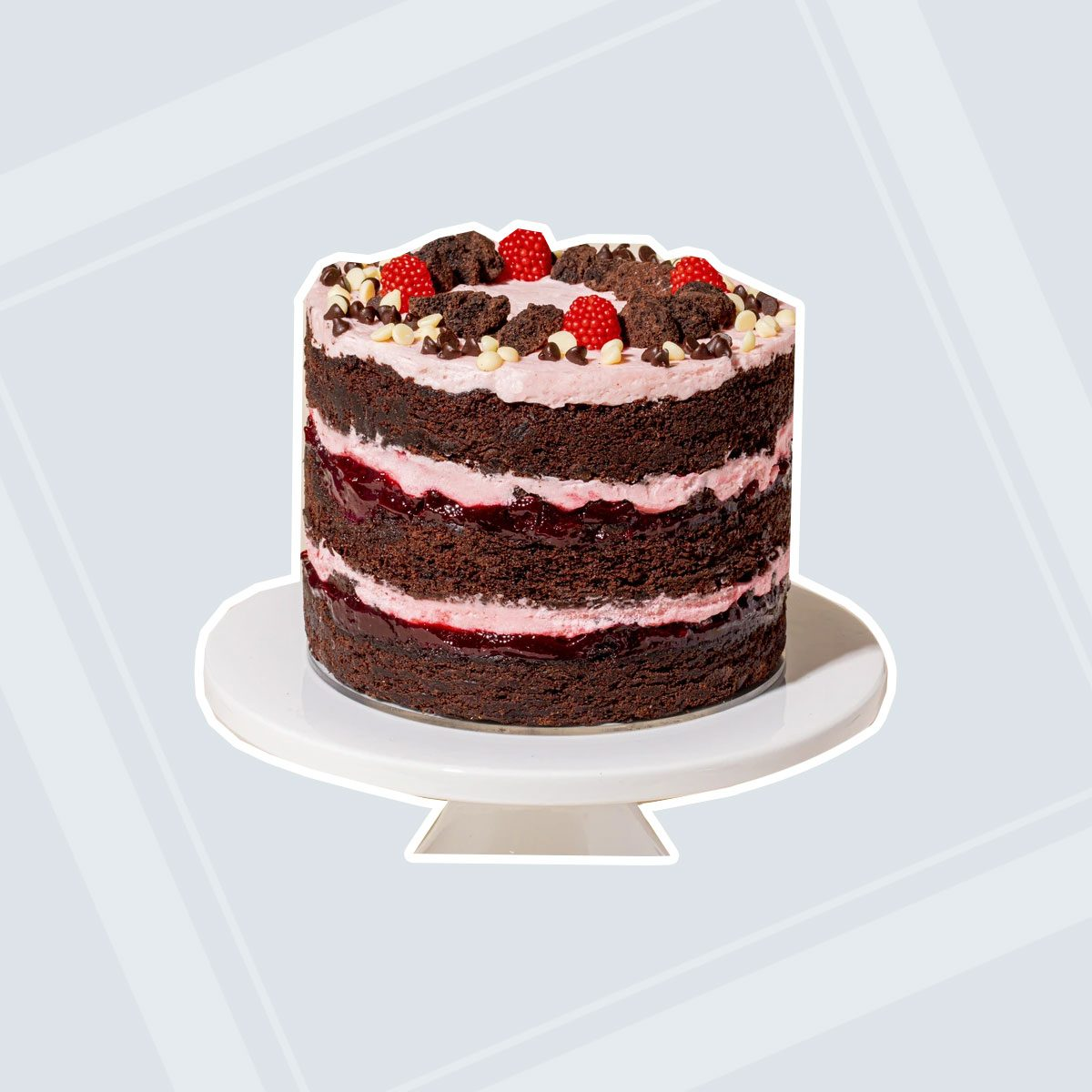 Chocolate Raspberry Jam Cake