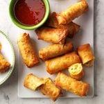 Air-Fryer Crispy Sriracha Spring Rolls