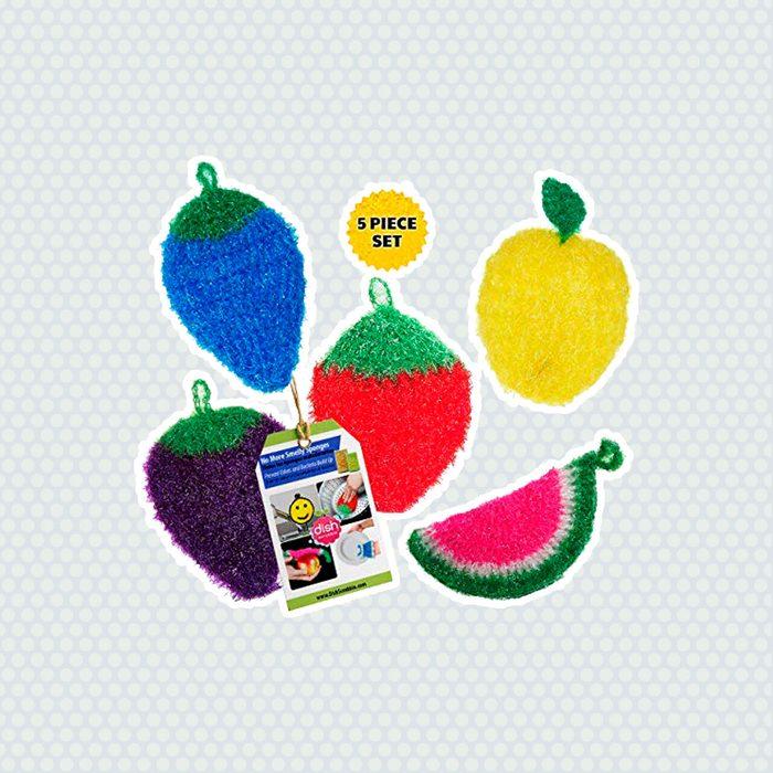 Fruit-Shaped Dish Scrubbies