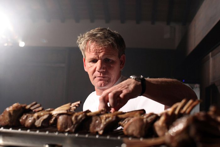 SIENA, ITALY - JULY 05: Scottish chef Gordon Ramsay holds a cooking class at the Castel Monastero Resort on July 5, 2012 in Castel Monastero - Siena, Italy. (Photo by Franco Origlia/Getty Images)