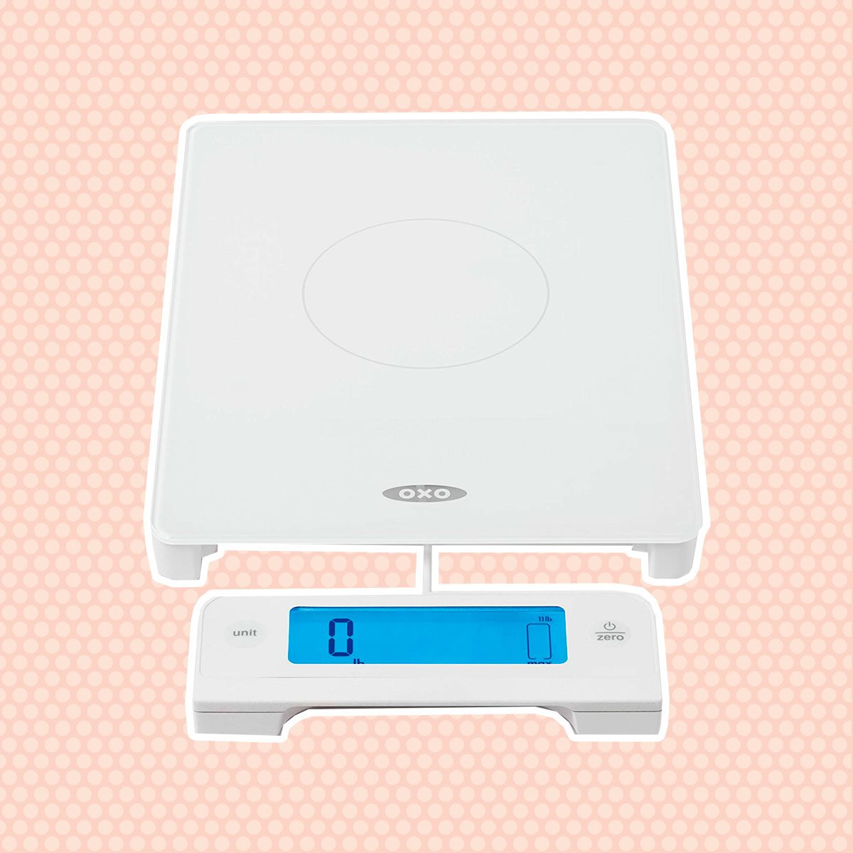 OXO 11176600 Good Grips Digital Glass Food Scale with Pull Out Display, 11 Pound, White