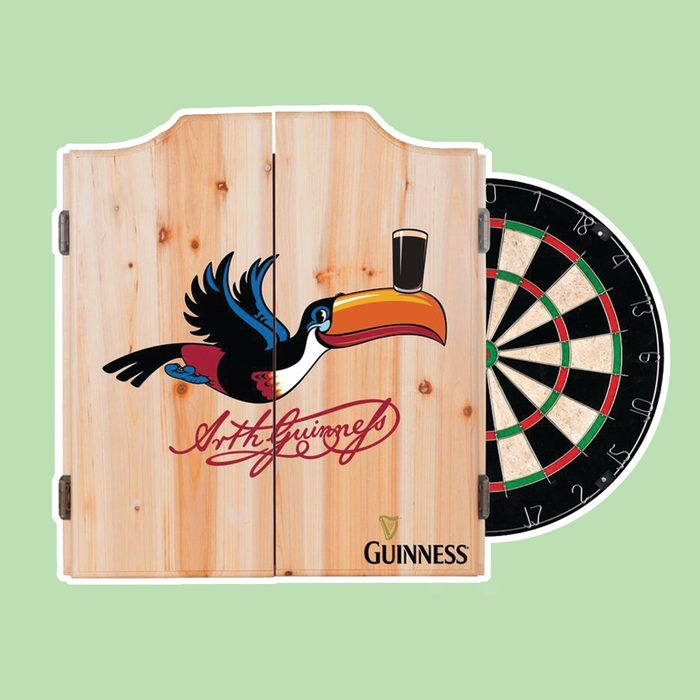 Guinness Toucan Dartboard and Cabinet Set