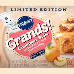 Pillsbury's New Peaches & Cream Cinnamon Rolls Taste Just Like the First Day of Summer