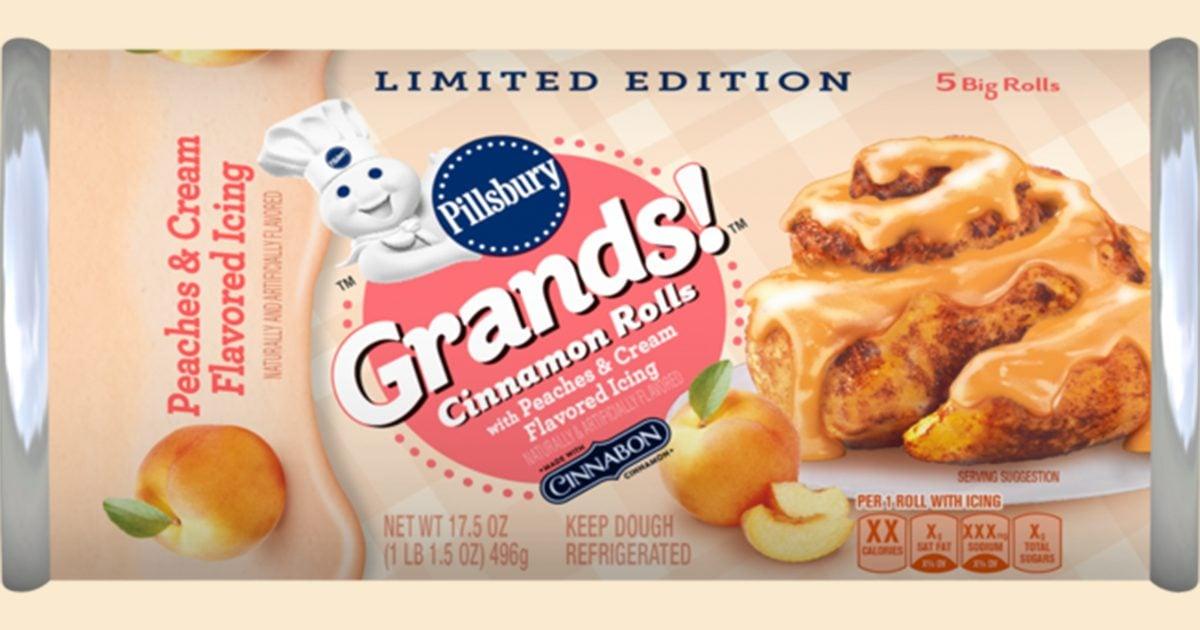 Peaches & Cream Cinnamon Rolls