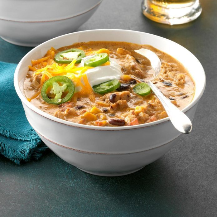 Pressure Cooker Jalapeno Popper Chicken Chili