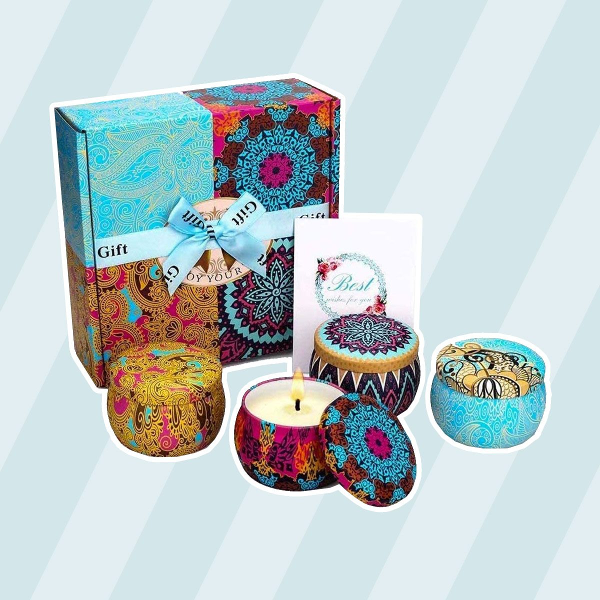 care package ideas Scented Candles Gift Set