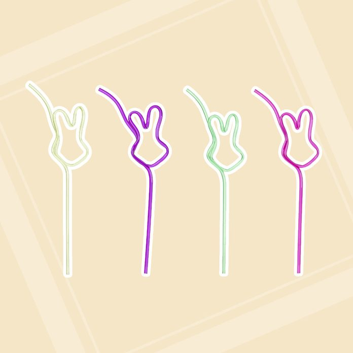 Bunny Crazy Straws easter basket stuffers