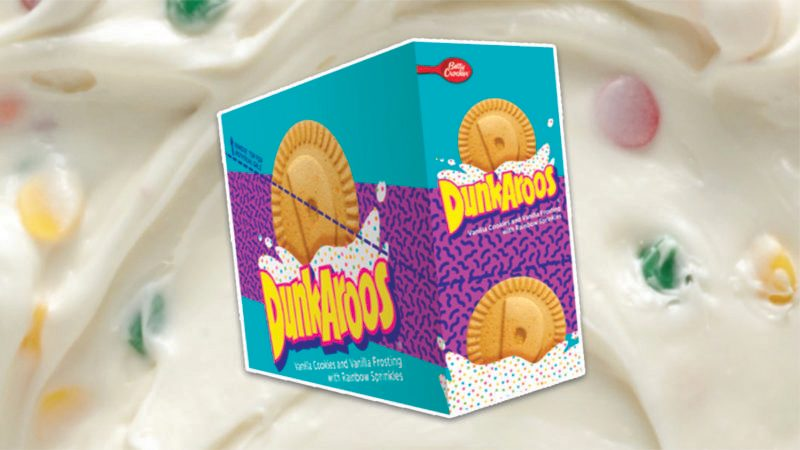 dunkaroos on confetti frosting background