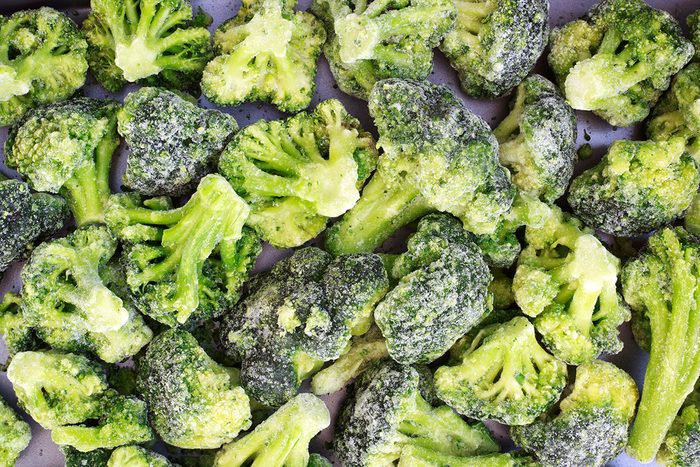 Frozen broccoli.