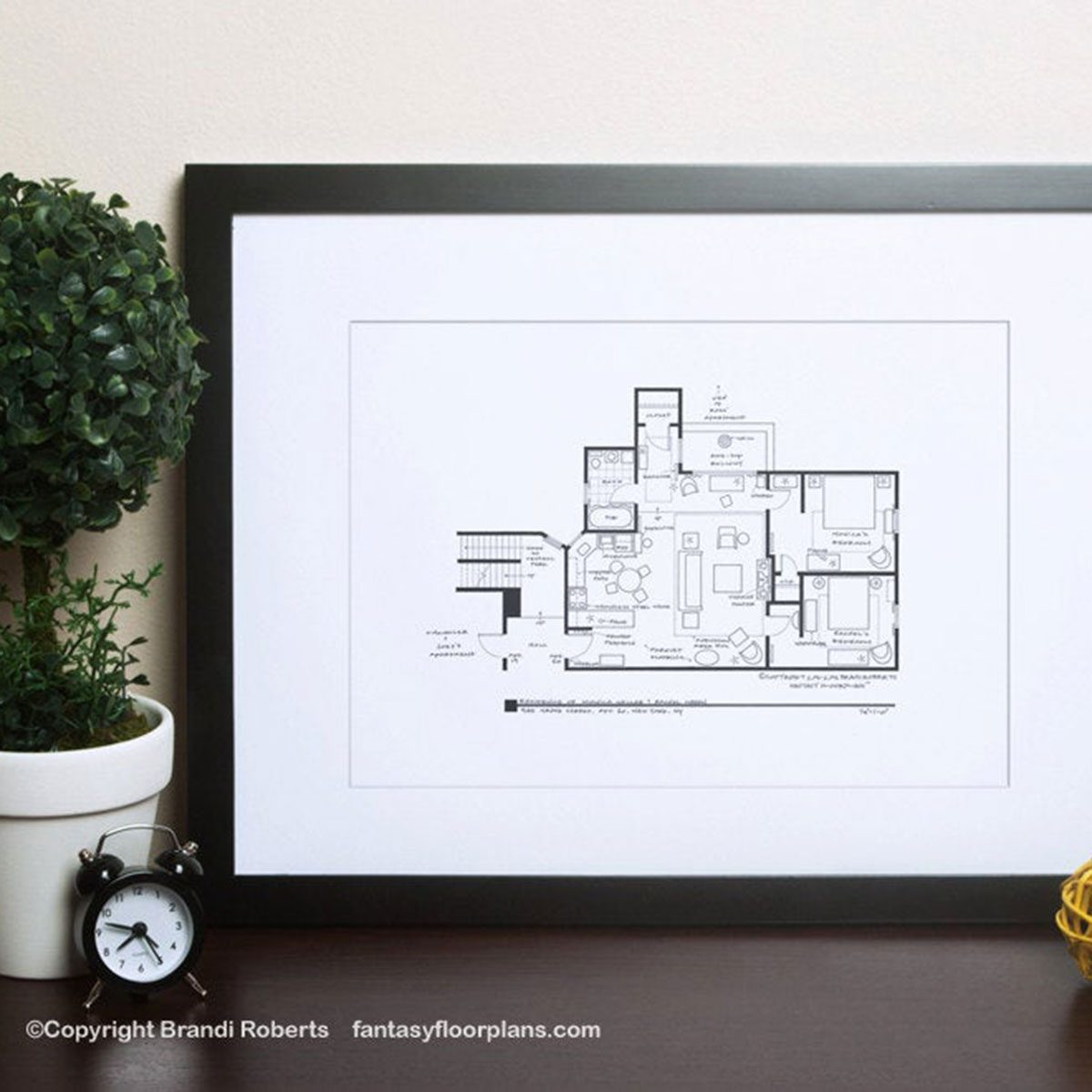 Floor Plan of Monica's Apartment Print