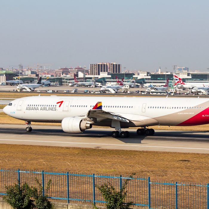 09.07.2015 // Istanbul, Asiana Airlines Aircraft Ready for Departure; Shutterstock ID 295370723; Job (TFH, TOH, RD, BNB, CWM, CM): RD