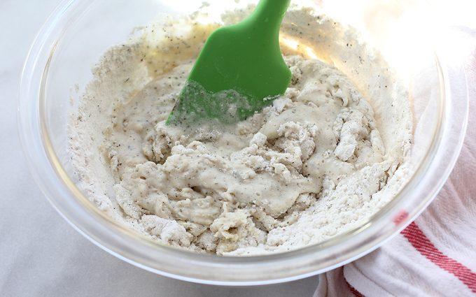 Stirring dough together