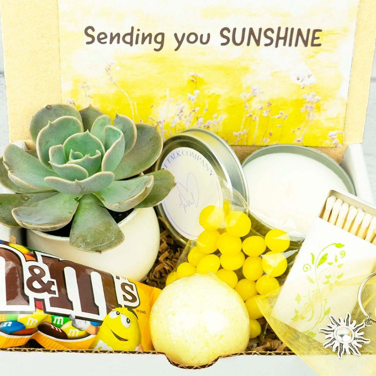 Sunshine Box care package ideas