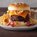 Air-Fryer Bacon Cheeseburgers