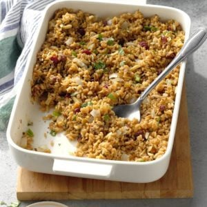 Brown Rice with Cranberries and Almonds