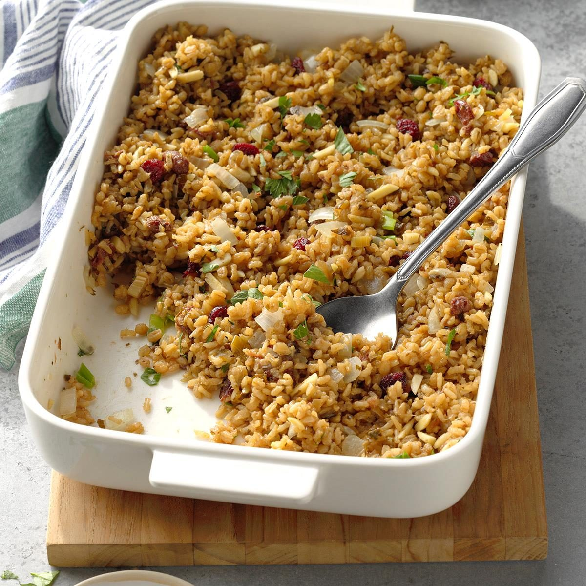 Brown Rice with Cranberries and Almonds Recipe