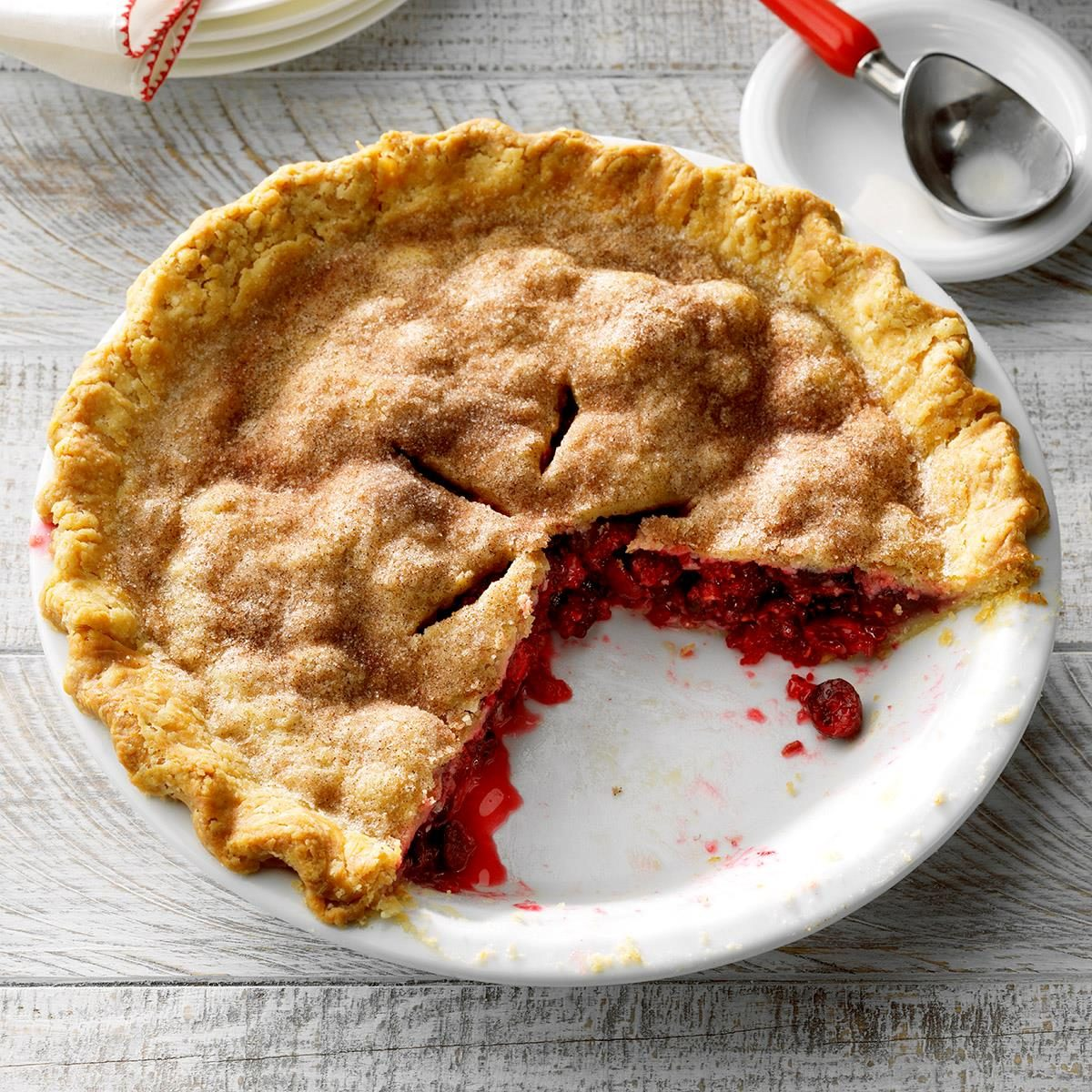 Honey Cran-Raspberry Pie