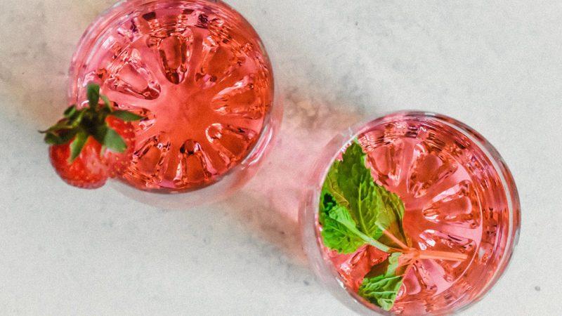 Overhead of drinks sans ice