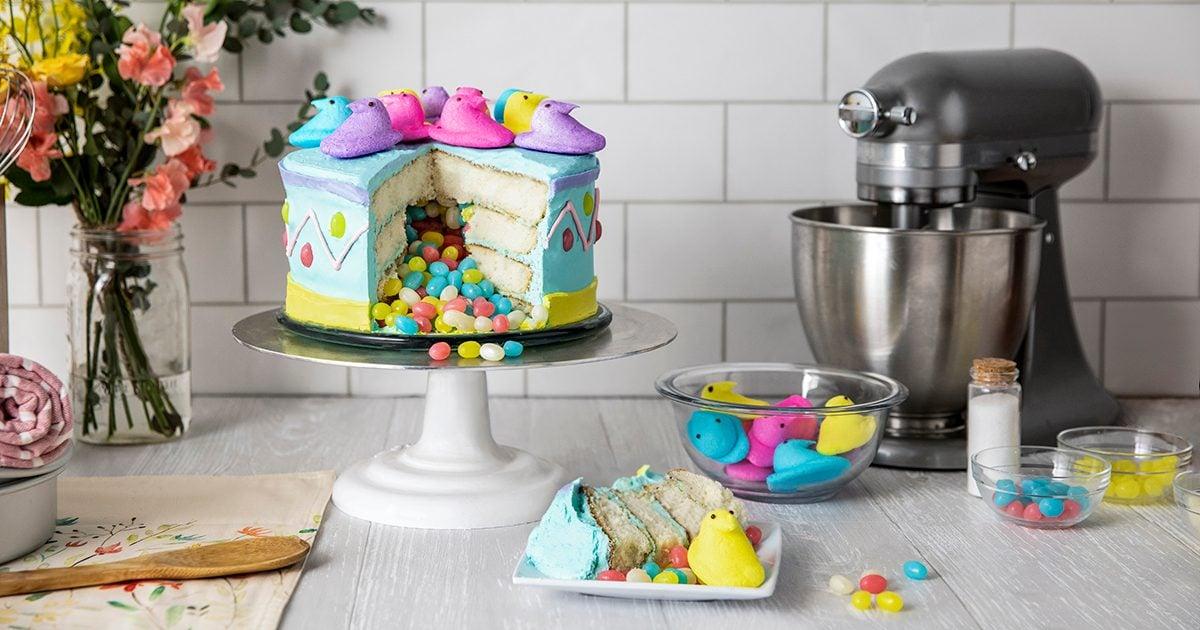 Duncan Hines PEEPS Pinata Cake