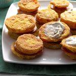 Air-Fryer Green Tomato Stacks