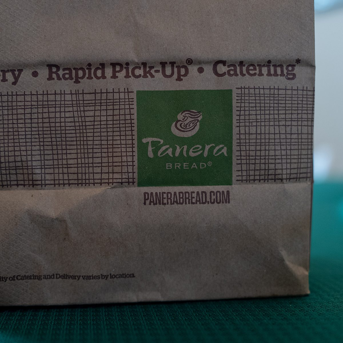 A food delivery order from Panera bread is visible in a suburban home in Contra Costa County, San Ramon, California during an outbreak of the COVID-19 coronavirus, March 16, 2020. Amid the outbreak, many residents have turned to food delivery services as a way to obtain meals, as restaurants have been ordered to close their dining rooms. (Photo by Smith Collection/Gado/Getty Images)