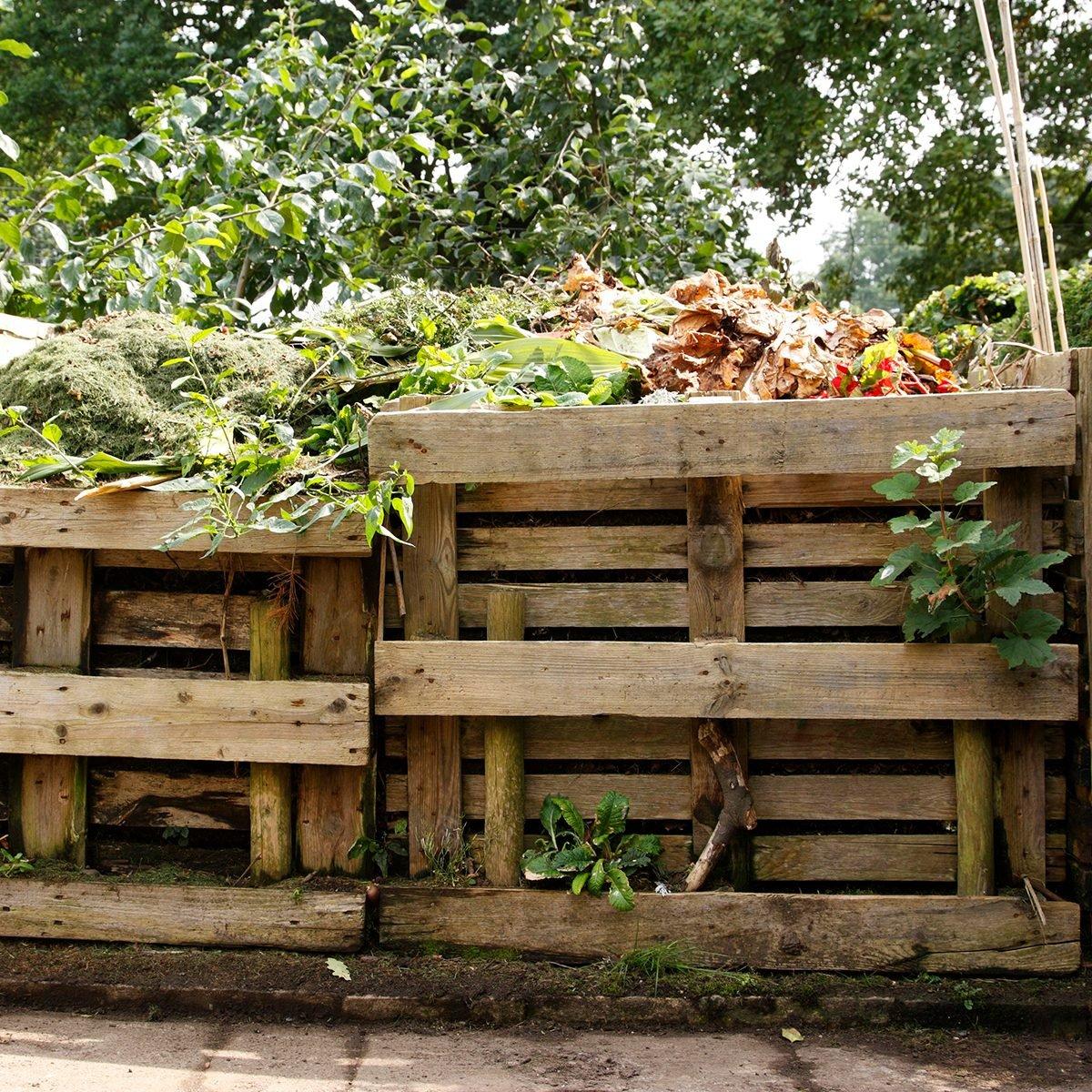 wooden compost bin kings heath park birmingham west midlands uk