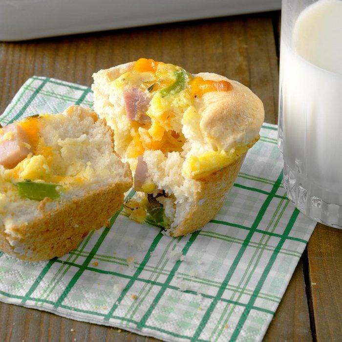 Ham & Biscuit Breakfast Cups