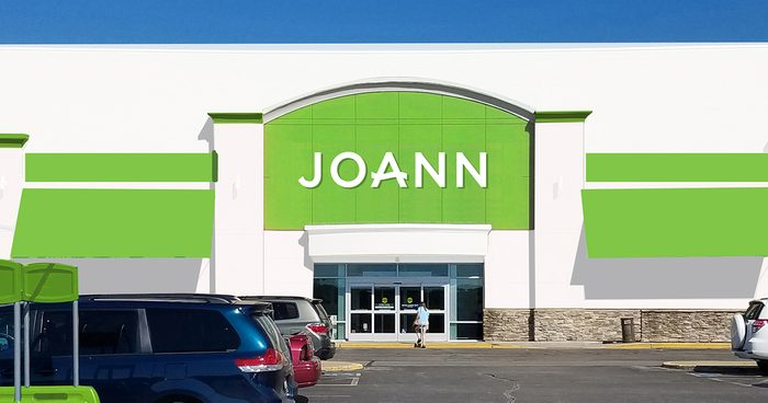 JOANN fabrics storefront