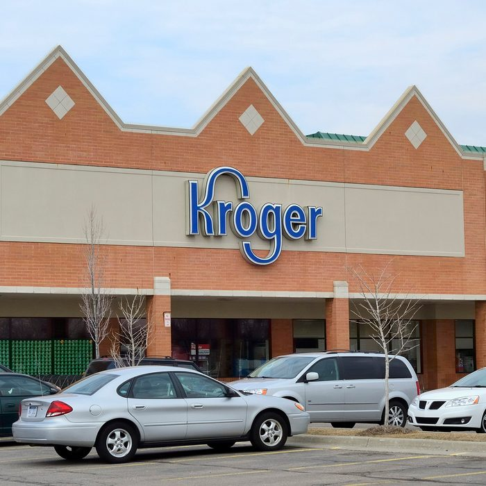 Troy, Michigan, USA - March 6, 2012: The Kroger store on John R Road in Troy, Michigan. Kroger is a chain of grocery stores founded by Bernard Kroger in 1883 with over 3600 locations nationwide.