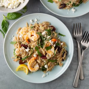 Lemon Shrimp Orzo