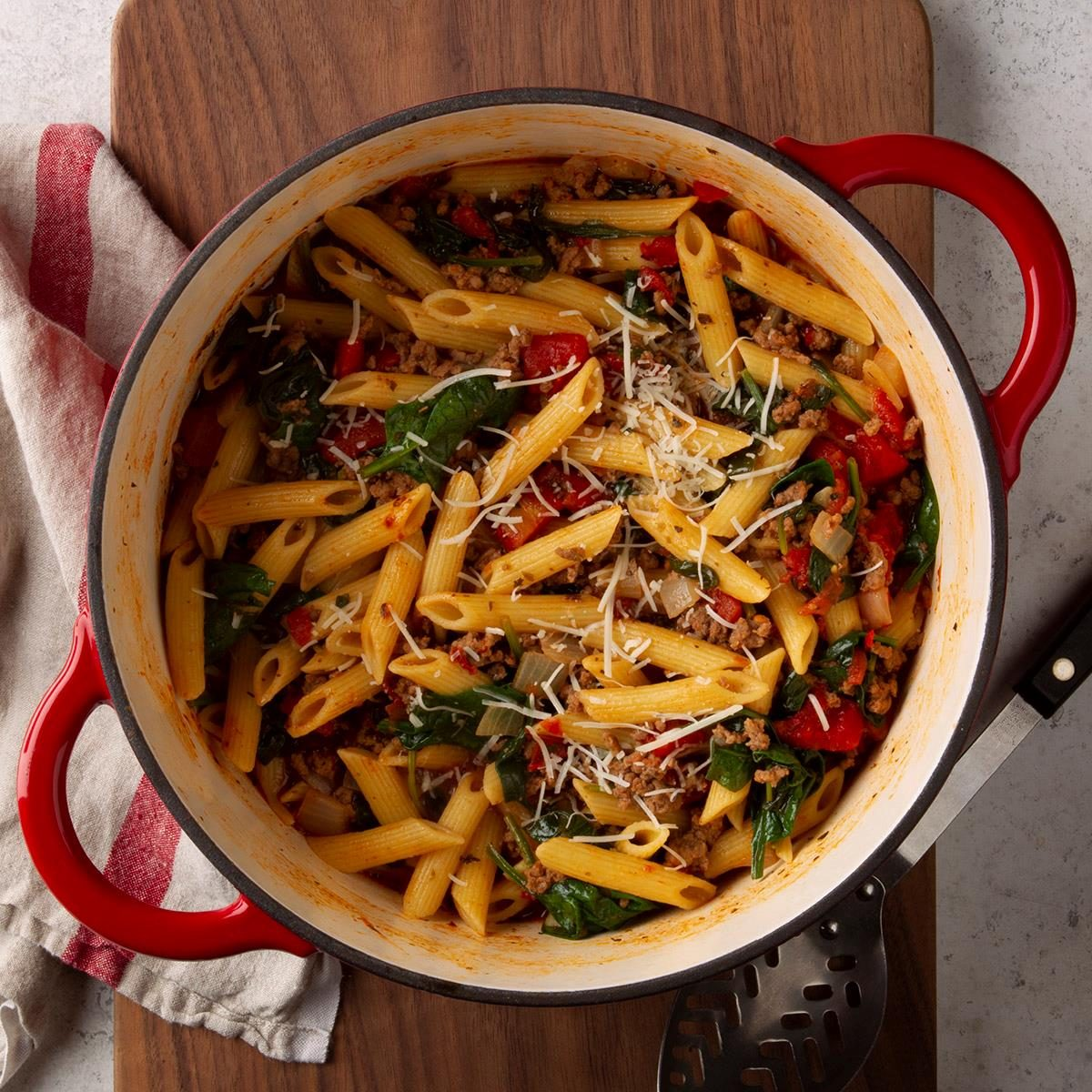 Dutch Oven Pasta Bake Recipe How To Make It Taste Of Home