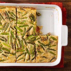 Overnight Asparagus and Egg Bake