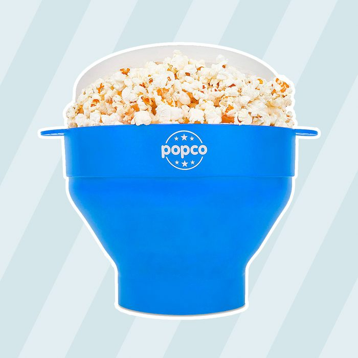 The Original Popco Silicone Microwave Popcorn Popper with Handles, Silicone Popcorn Maker, Collapsible Bowl Bpa Free and Dishwasher Safe - 10 Colors...