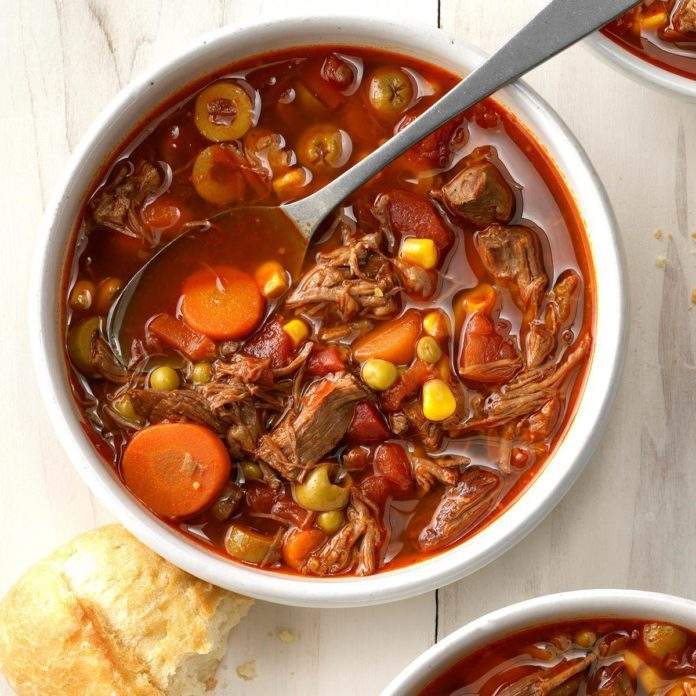 Pressure-Cooker Olive and Beef Soup