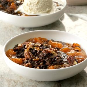 Pressure-Cooker Chocolate-Apricot Dump Cake